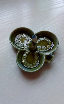 3 Leaf Clover Pin Dish-Made In Ireland By Wade Co.armagh- Good Condition