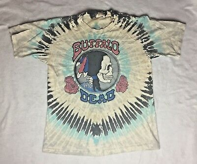 Vintage 1990 Grateful Dead Tour Shirt Buffalo NY Tie Dye 25 Years - Size Large
