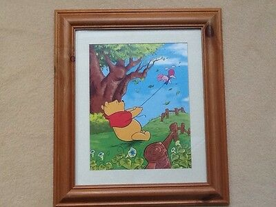 Disney Winnie the pooh nursery  picture In Wooden Fame