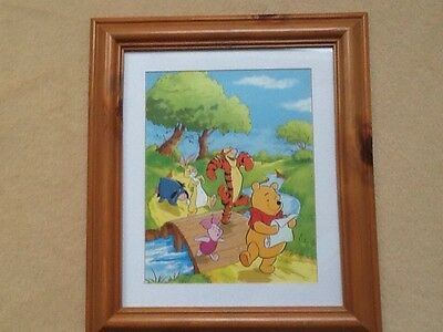 winnie the pooh nursery  picture In Wooden Frame