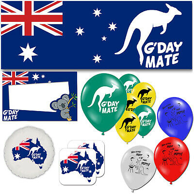 Australia Day G'day Mate Aussie Emigrating Leaving Decorations Party Supplies