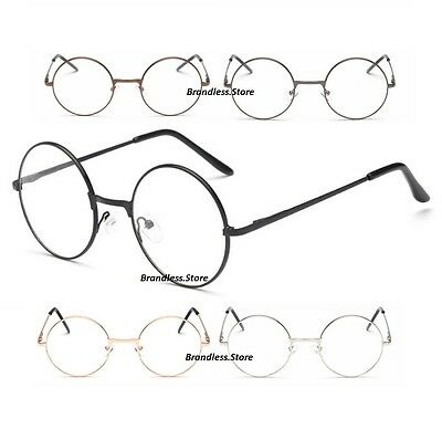 Large Round Metal Frame Nerd Reading Glasses Round Style Strength +0.0 to +4.0