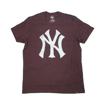 '47 brand T-Shirt New York Yankees Knockaround Club dark maroon
