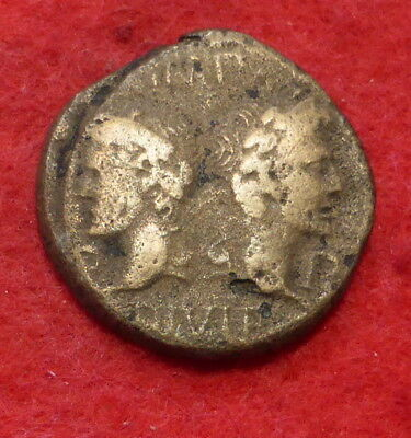 Agrippa and Augustus Ae25 Coin