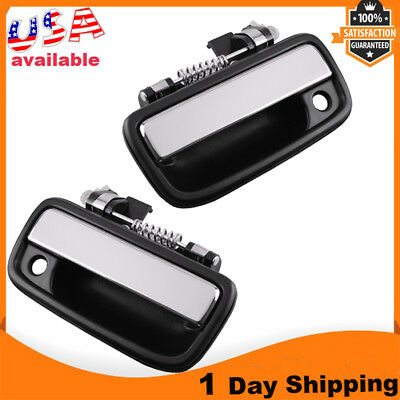 Set Chrome Outside Front Left Right Door Handle Exterior For 95-04 Toyota Tacoma