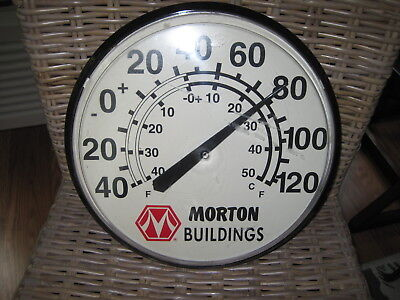 Morton Buildings Farm Commercial  Chaney Instrument Round Plastic Thermometer