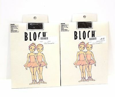 BLOCH Endura Tights Lot of 2 Black Toddler 1-3 For Children Style #T0921G  NEW