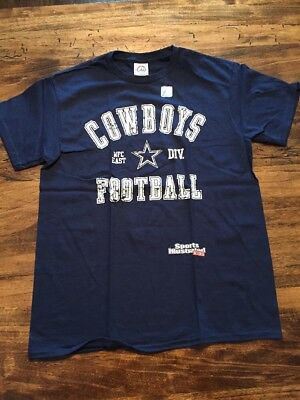 New Sports Illustrated DALLAS COWBOYS NFC EAST DIVISION Blue Kid's L T Shirt