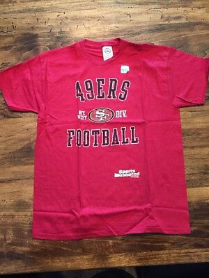 New Sports Illustrated SAN FRANCISCO 49ers NFC WEST DIV Red Kid's Large T Shirt