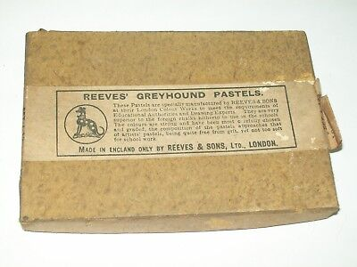 Vintage / Antique Box Of Reeves & Sons Greyhound Pastels