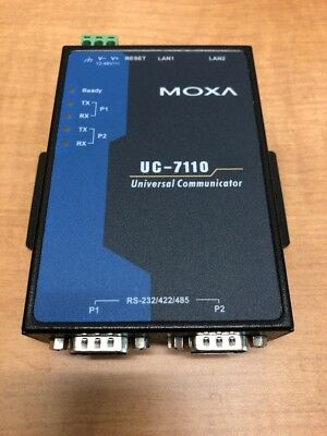 Moxa UC-7110-LX Mini Computer Ethernet Serial Device Console Terminal Server