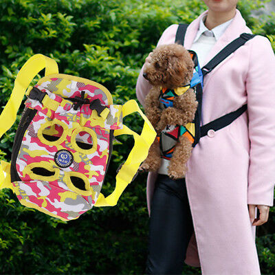 Small Dog Cat Pet Puppy Carrier Backpack Front Tote Carrier Bag Legs Out