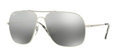 9d70bba4835 Ray-Ban Sunglasses RB3587CH Polarized Chromance Silver Mirror Lens 003 5J  61mm