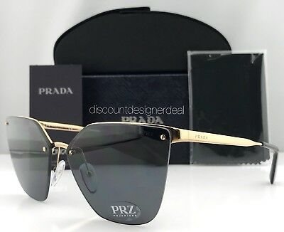 3db7e8334e Prada Sunglasses Polarized Brand New SPR 68TS 7OE5Z1 ANTIQUE GOLD   GRAY  63mm