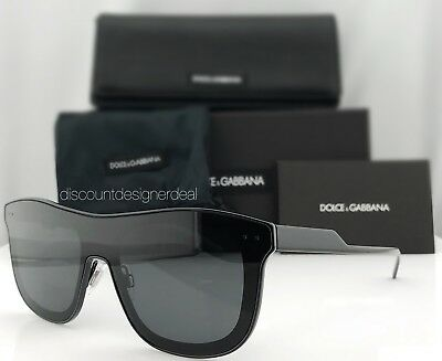 51324fb1d010 Dolce   Gabbana Men s Sunglasses New DG 2174 Shiny Black   Gray Lens 01 87