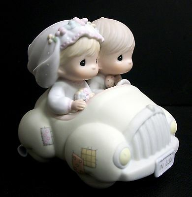 Precious Moments Wishing You Roads Of Happiness Just Married Bride Groom Car