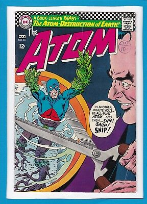 """The Atom #24_May 1966_F/vf_""""the Atom-Destruction Of Earth""""_Silver Age Dc!"""