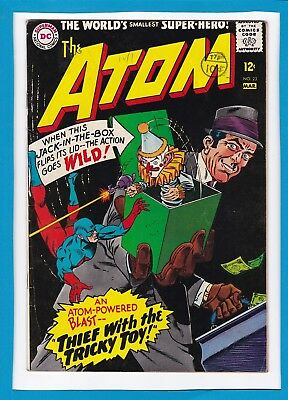 """The Atom #23_March 1966_Very Good_""""thief With The Tricky Toy""""_Silver Age Dc!"""