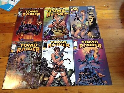 Assorted Tomb Raider Comics From Top Cow No; 1 + Preview Edition.