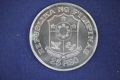 1974 Philippines 25 Piso .90 Fine Silver Coin- 25th Anniversary of Bank