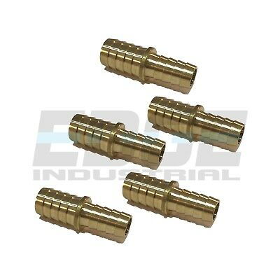(5 Pack) 5/8 X 1/2 Hose Barb Mendor Union Splicer Brass Pipe Fitting WOG Fuel