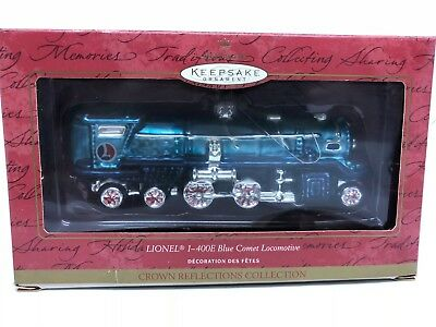 Lot of 6 Hallmark Lionel Ornaments, 4 Die Cast Ornaments and 2 Glass