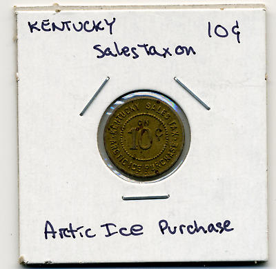 Kentucky Sales Tax Token 1936 Arctice Ice 10c KY-L4 R5