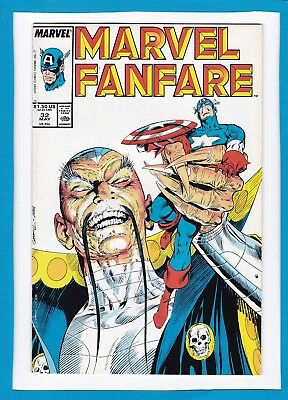 Marvel Fanfare #32_May 1987_Very Good/fine_Captain America_Spider-Man_Vision!