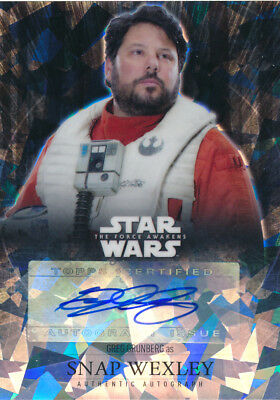 Star Wars The Force Awakens Autograph Auto Greg Grunberg Snap Wexley 75/99