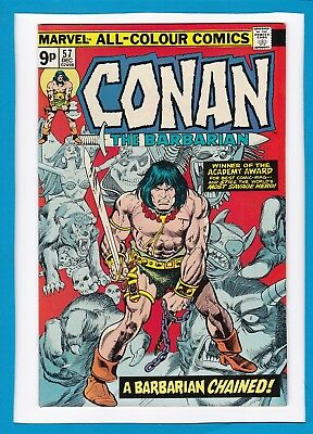 "Conan The Barbarian #57_Dec 1975_Nm Minus_""a Barbarian Chained""_Bronze Age_Uk!"