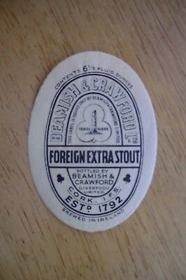 Mint Beamish & Crawford Cork Liverpool Foreign Extra Stout Brewery Bottle Label