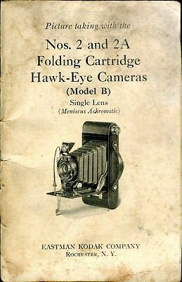 Kodak Nos. 2 and 2a Folding Cartridge Hawk-Eye Cameras Model B Owners Manual
