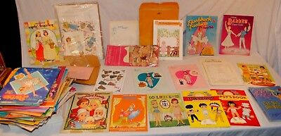 Lot of 90+ Vintage 1960's-1990's Paper Dolls Books & Sheets