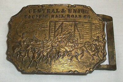 Vintage Central & Union Pacific Railroad Co. Belt Buckle