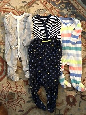 Baby Gap Boys 6 - 9 Months SET OF 4 footed one pieces