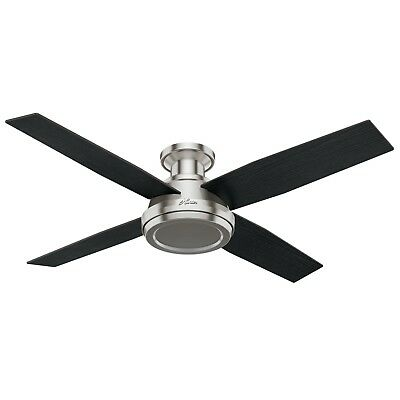 Hunter Dempsey Low Profile 52 Inch  Ceiling Fan  With Remote Control
