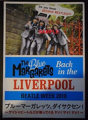Beatles Week 2010, Liverpool - The Blue Margarets, A4 double sided flyer (Japan)