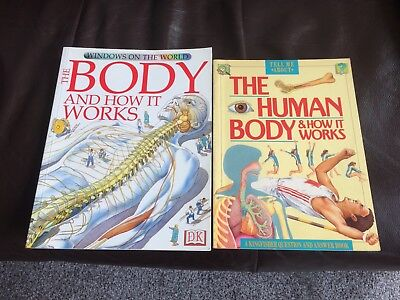 2 x Books - Human Body and How it Works.