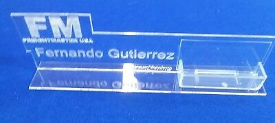 Personalized Acrylic Glass NAME PLATE BAR Desk with CUSTOM LOGO Business Card Hd