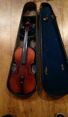 Vintage Two Piece Back Violin