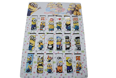 2x Cute Novelty Despicable Me Minions Magnetic Bookmark Page Markers Free UK P&P