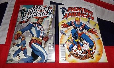 Jack Kirby's Fighting American #1 & #2 Titan Comics FIRST PRINTING - Not Captain
