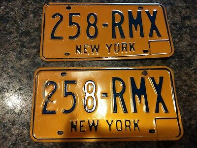 A pair of vintage New York State License Plate 1970/1980's