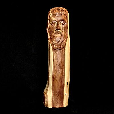 """Cedar Wood Santo Carving by Chris White of Taos New Mexico, 13 5/8"""" tall"""