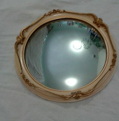 ANTIQUE Round Convex Mirror 1950S