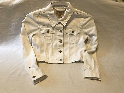 Ralph Lauren Girls Denim Jacket White Size 12