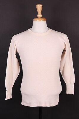Vtg 60S Pennys Towncraft Cotton Long Underwear Thermal Shirt Mens Size 40