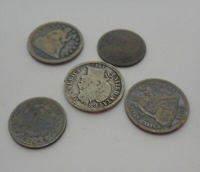 Seated Liberty Dimes 1800's lot