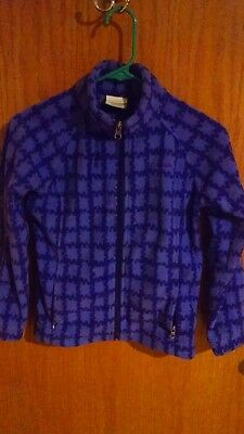 Columbia girls fleece jacket sz. M (10-12) purple, pre-owned