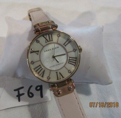 Anne Klein Women's 10/9918RGLP Rose Gold-Tone Watch with Leather Band F69